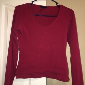 GAP small red stretch top